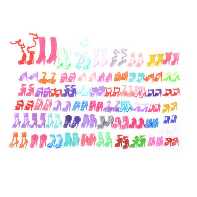 60 Pairs Fashion Doll High Heels Shoes Sandals For   Doll Shoes Gift IO