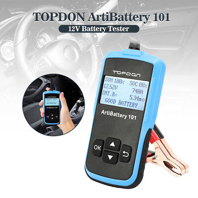 12V Auto Digital Automotive Car Battery Tester Analizzatore TOPDON Batterytester