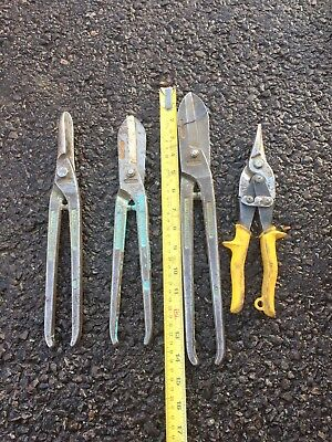 Set Of Gilbow Irwin Record Roofing Lead Tin Roofer Cutters Snips