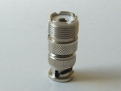 PL259--SO239 Socket Female to BNC Plug Male-THE CHEAPEST ON Ebay?- SO BUY NOW!!!