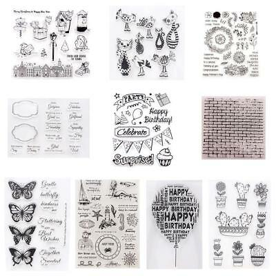 Transparent Silicone DIY Clear Stamp Cling Seal Scrapbook Embossing Album Decor