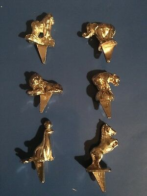 Reed Barton Circus Animal Birthday CANDLE HOLDERS Metal Set