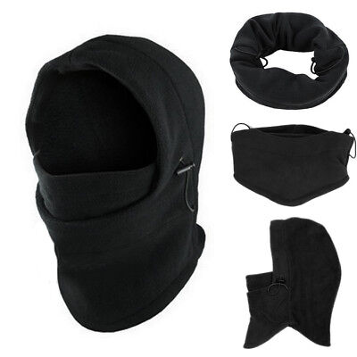 6 in1 Neck Balaclava Winter Face Hat Fleece Hood Ski Mask Warm Helmet Caps GOOD