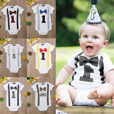 Newborn Baby Boy Infant Outfits Jumpsuit Romper Bodysuit Gentleman Formal Party