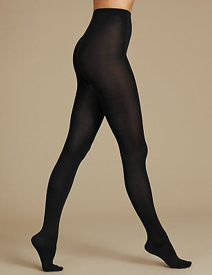 Ladies Famous Make Pack of 4 Tights. Black or Navy. 80 or 100 Denier. Sizes S-XL