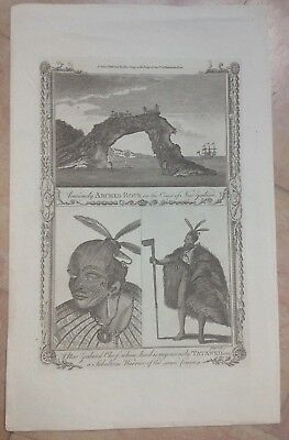 New Zealand 1780 By Alexander Hogg Nice Antique Copper Engraved View