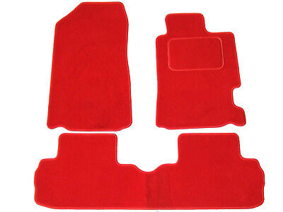 Honda Civic Type R EP3 2001-2006 tailored car mats red with red trim