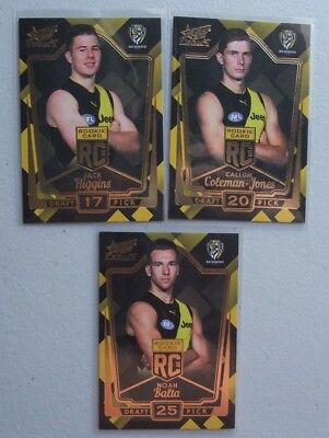 2018 AFL Select Legacy Rookie Cards Richmond Tigers