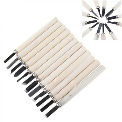 12pc Wood Carving Hand Chisel Knife Tool Set Woodworkers Gouges