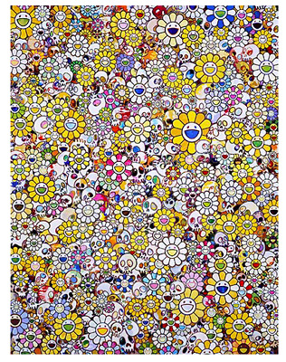 Limited! Takashi Murakami  <MG, 1960 =>2012 > 2016 off set Signed Flower Japan