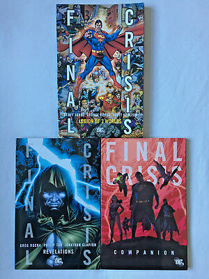= Final Crisis = 3 X Tie In Books = Dc Comics = Tpb = Graphic Novels =