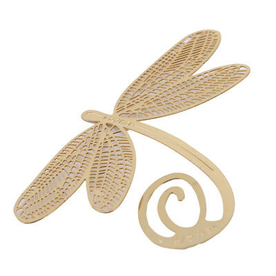Flying Dragonfly Note Metal Bookmark Document Book Marker Label Stationery Z