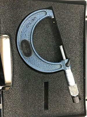 More and wright 2-3 inch micrometer in box with tenth dial