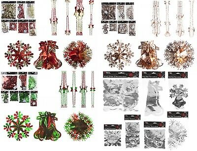 Christmas Hanging Ceiling,Wall Decoration Foil Garland,Bell,Ball,SnowFlake Decor