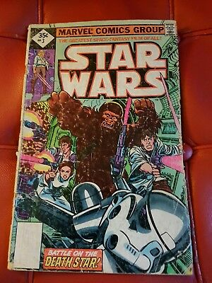 Marvel - Star Wars #3 1977 35 cents reprint - Fair