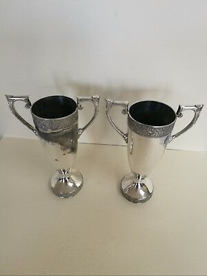 Pair of plated Arts and Crafts Vases - JAMES DIXON & SONS Sheffield