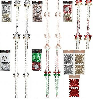 2Pk Christmas Hanging Ceiling,Wall Decoration Foil Garland 2.7m 6Section 12x12cm