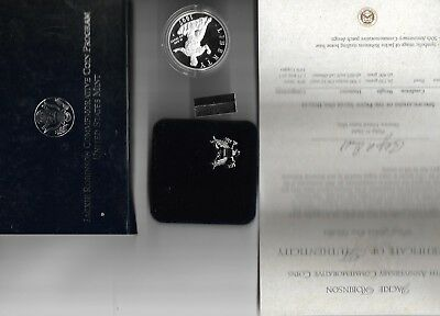 Jackie Robinson Proof Silver Dollar 1997-s Commemorative in original mint box