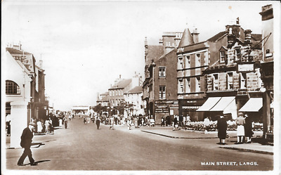 Postcard of the Main Street in Largs. Ayrshire