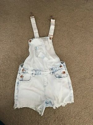 Girls Denim Short Playsuit Age 7-8