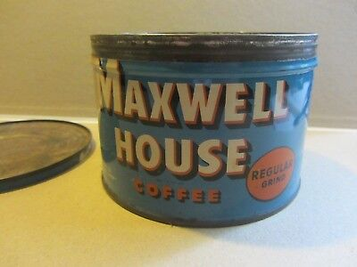 Maxwell House Ground Coffee Tin Can Empty