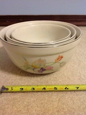 Hall China Tulip Nesting Bowls Set of Three