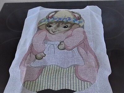 Needle Needs Mouse Tapestry Includes Wool 17x13inches wide