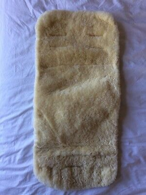 Sheepskin Lambskin buggy pram seat liner 70 x 33 cm Great condition.