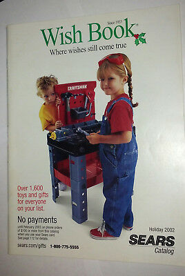 2002 Sears Wish Book Christmas Catalog Toys Dolls Trains Games Cars Electronics