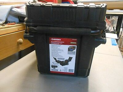 Husky 25 in Heavy Duty Cantilever Mobile Job Tool Box Lockable Storage Organizer