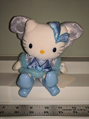 New Sanrio Hello Kitty in blue fairy wings Soft