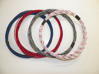 20 TXL 4 STRIPED COLORS 10 FEET EACH 40 FEET TOTAL HIGH TEMP AUTOMOTIVE WIRE