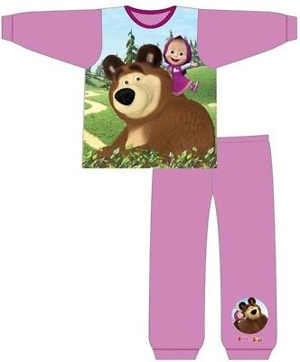 NEW! Official Masha and the Bear Character Pyjama PJ Set Nightwear Size 18M-5Yrs
