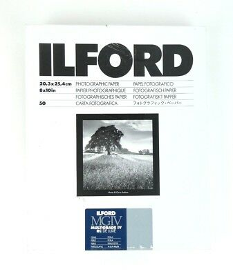 """Ilford 8""""x10"""" Photographic Paper Pearl 50 Sheets"""