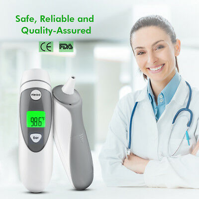 LCD Digital Baby Adult Body Care Forehead Ear IR Infrared Medical Thermometer UK