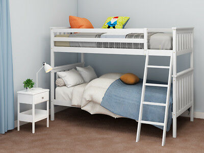 3ft Single Twin Bunk Bed Frame Solid Wood Sleeper 2 Person for Children Kids NEW
