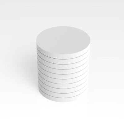 PK of 50 / 75mm Diameter / 3mm Thick / White Plastic Circles / Acrylic Disc