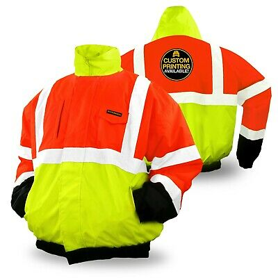 KwikSafety DISPATCHER ANSI Class 3 Insulated Reflective Bomber Safety Jacket