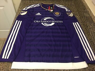 53083e9a28e adidas MLS Orlando City S.C. Authentic LS Soccer Jersey NWT Sz Medium Men   150