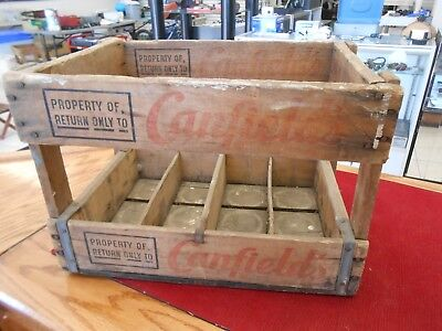 Vintage Canfield's Wood Soda Crate Dec. 57