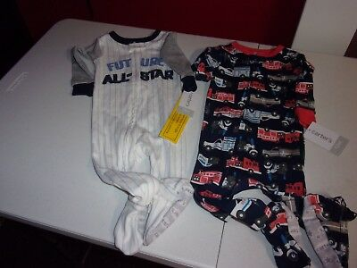 Nwt Carter's Boys Two Sleepers Size 12 Months