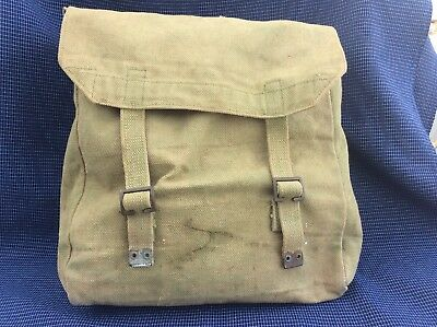Old Vintage Ww2 Canvas Bag Dated 1945
