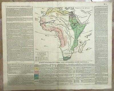 AFRICA DATED 1806 by LESAGE XIXe CENTURY LARGE COPPER ENGRAVED MAP