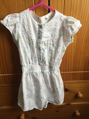 Girls Floral Playsuit From BHS