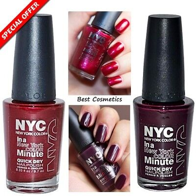 NYC NEW YORK Color In a Minute Quick Dry Nail Polish 9.7ml Chelsea ...
