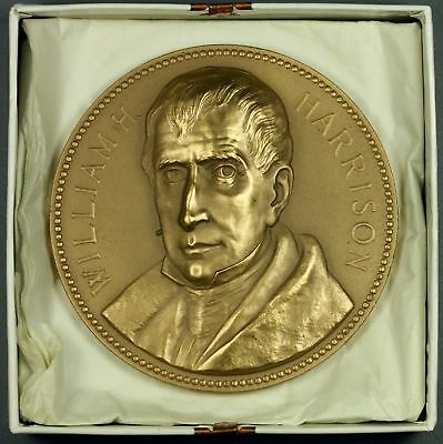 "3""   Bronze   WILLIAM H. HARRISON   Presidential INAUGURATION MEDAL  Paperweight"