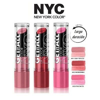NYC Get It All Lipcolor Pintalabios Larga Duración Barra de Labios Labial