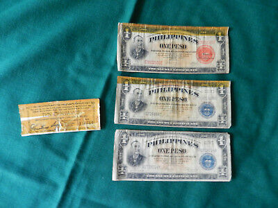 Vintage Philippines Currency Notes One Peso  Emergency Currency 10 Centavos