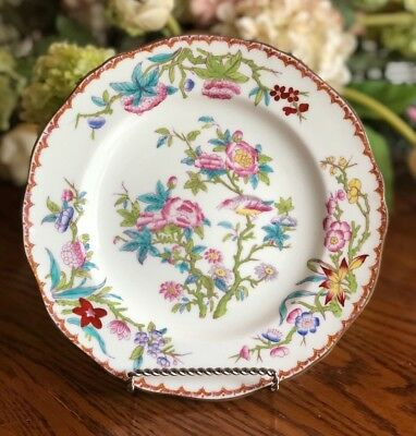 Minton Luncheon Plate Cuckoo Scalloped Edge Hand Painted England