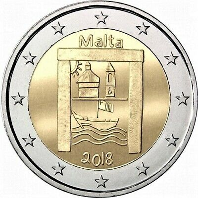 "Malta 2 euro coin 2018 ""Cultural Heritage - From Children in Solidarity"" UNC"